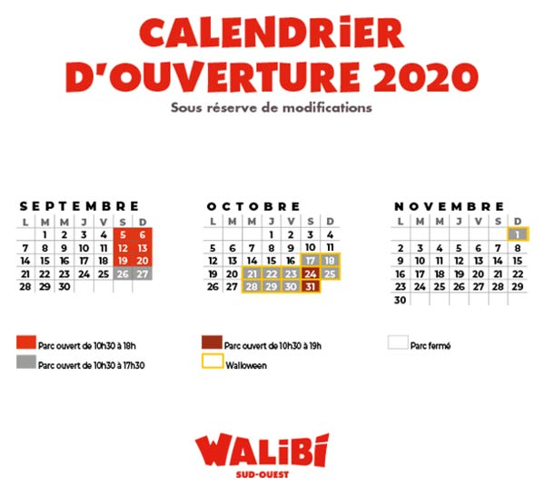 Parc Walibi Sud-ouest - Walibi Sud-ouest from 2 May to 1 November 2020