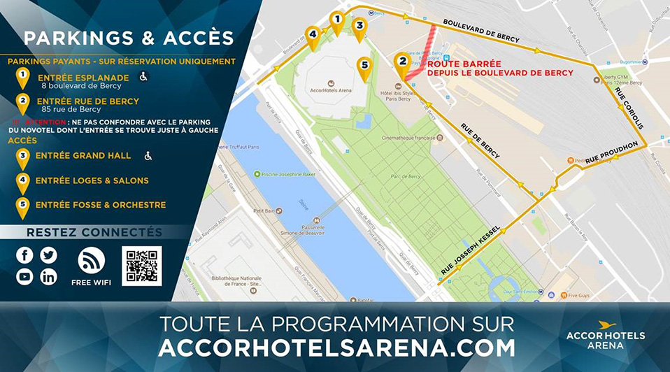 billets parking parking de l 39 accorhotels arena paris du 1 sept 2017 au 31 ao t 2018 parking. Black Bedroom Furniture Sets. Home Design Ideas